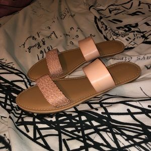 Old Navy Double Strap Blush Sandals 💕